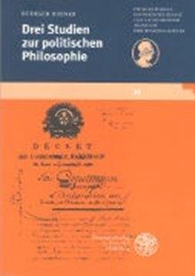 Bild von Drei Studien zur politischen Philosophie