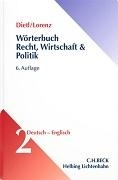 Bild von Wörterbuch Recht, Wirtschaft, Politik 02. Deutsch-Englisch