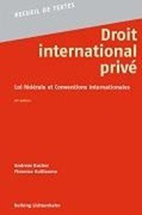 Bild von Droit international privé