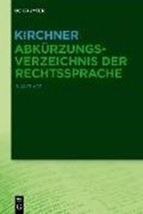 Bild von Kirchner - Abkürzungsverzeichnis der Rechtssprache