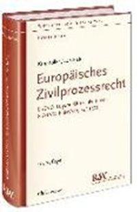 Bild von Europäisches Zivilprozessrecht