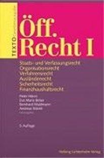 Bild von Hänni, Peter (Hrsg.) : TEXTO Öff. Recht I