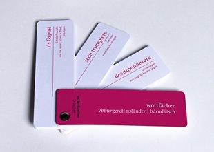 """Bild von Vatter, Anja : Wortfächer Berndeutsch """"Ybbürgereti Usländer"""""""