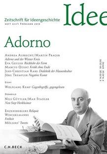 Bild von Spoerhase, Carlos (Hrsg.) : Zeitschrift für Ideengeschichte Heft XIII/1 Frühjahr 2019