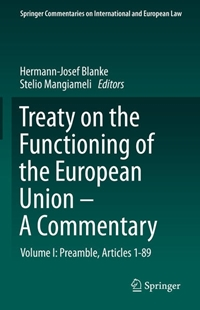 Bild von Blanke, Hermann-Josef (Hrsg.) : Treaty on the Functioning of the European Union - A Commentary (eBook)
