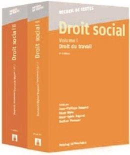 Bild von Dunand, Jean-Philippe (Hrsg.) : Droit social, Volumes I + II