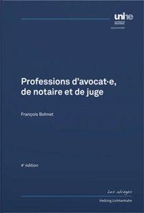 Bild von Bohnet, François: Professions d'avocat-e, de notaire et de juge